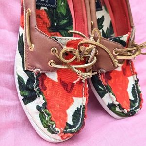 Milly for Sperry Floral Boat Shoes